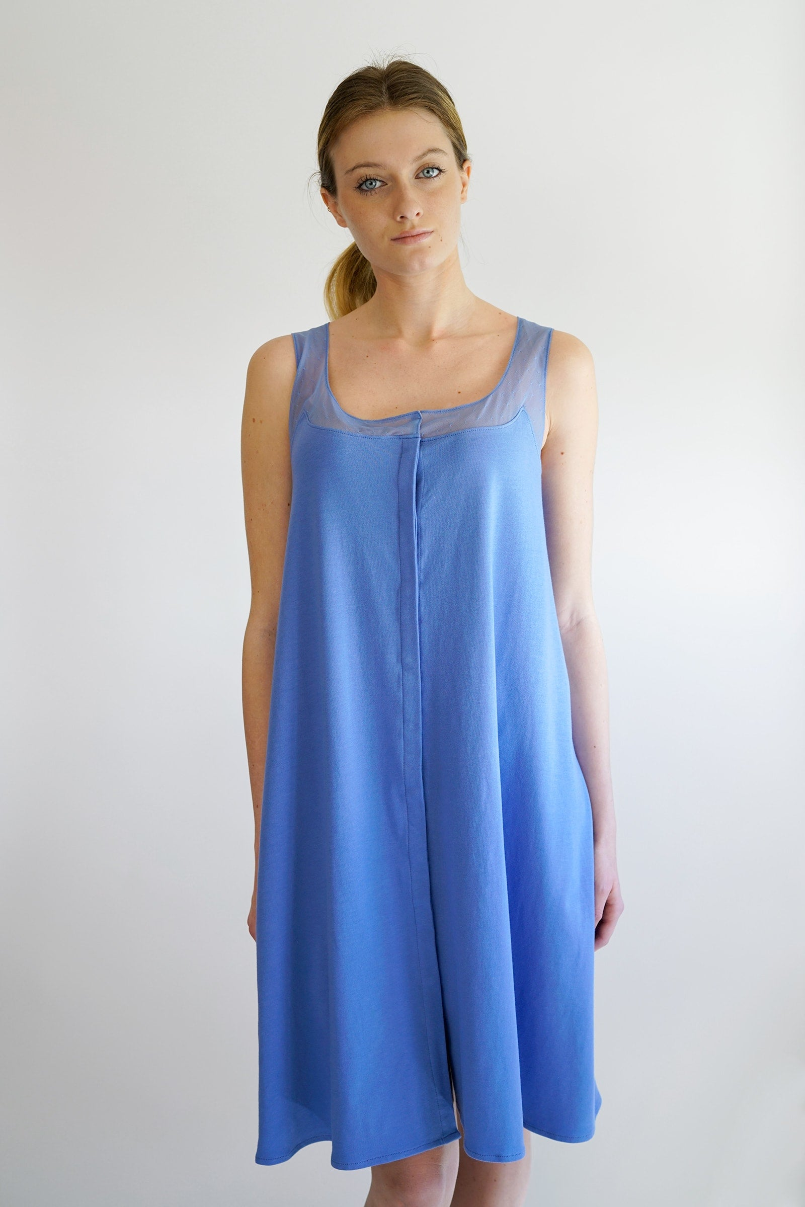 Annalisa maternity nightgown - blue