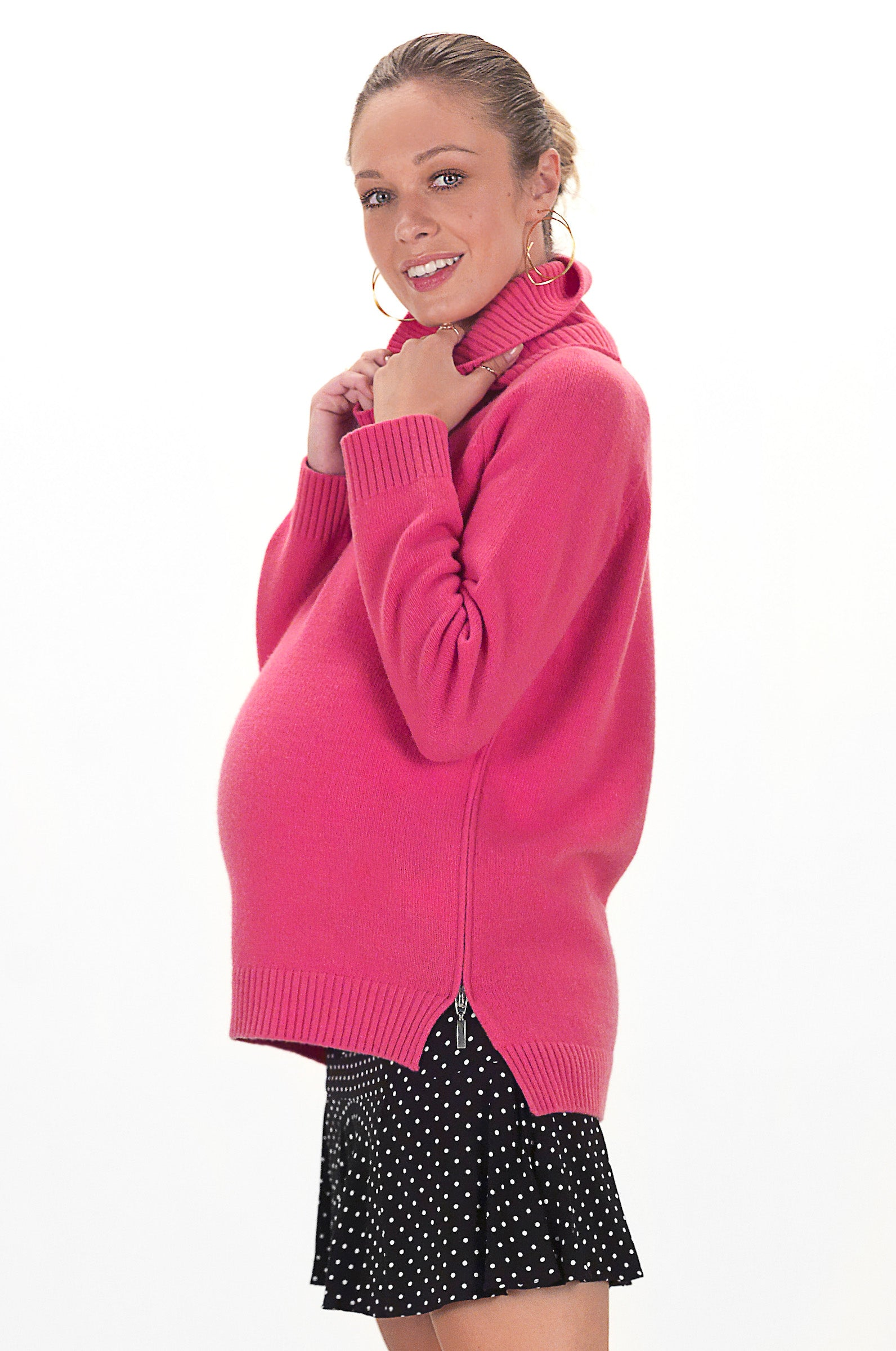 Maternity Sweater - Pregnancy Sweater - Nursing Sweater - teat&cosset sweater - Pink