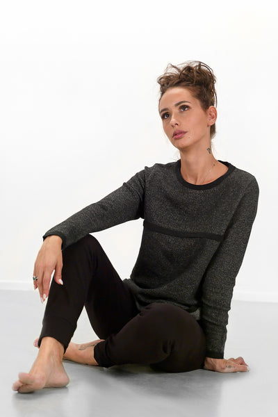 Teat & Cosset - Lia Knit Nursing Top - Charcoal