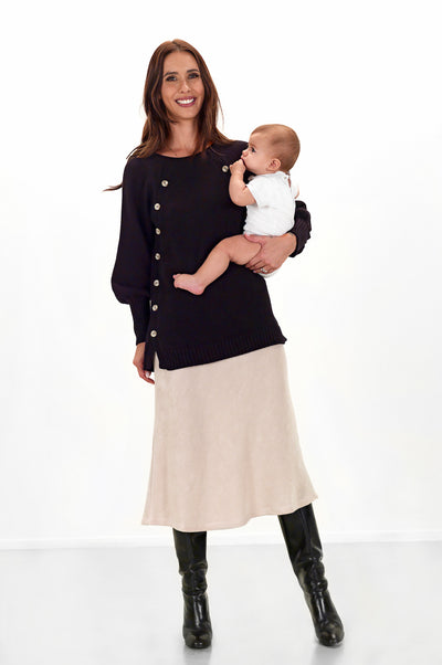 Teat & Cosset - Stella Nursing Maternity Sweater - Black