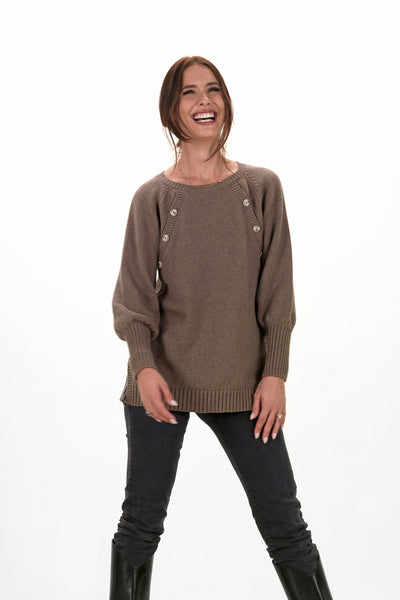 Teat & Cosset - Stella Nursing Maternity Sweater - Toffee