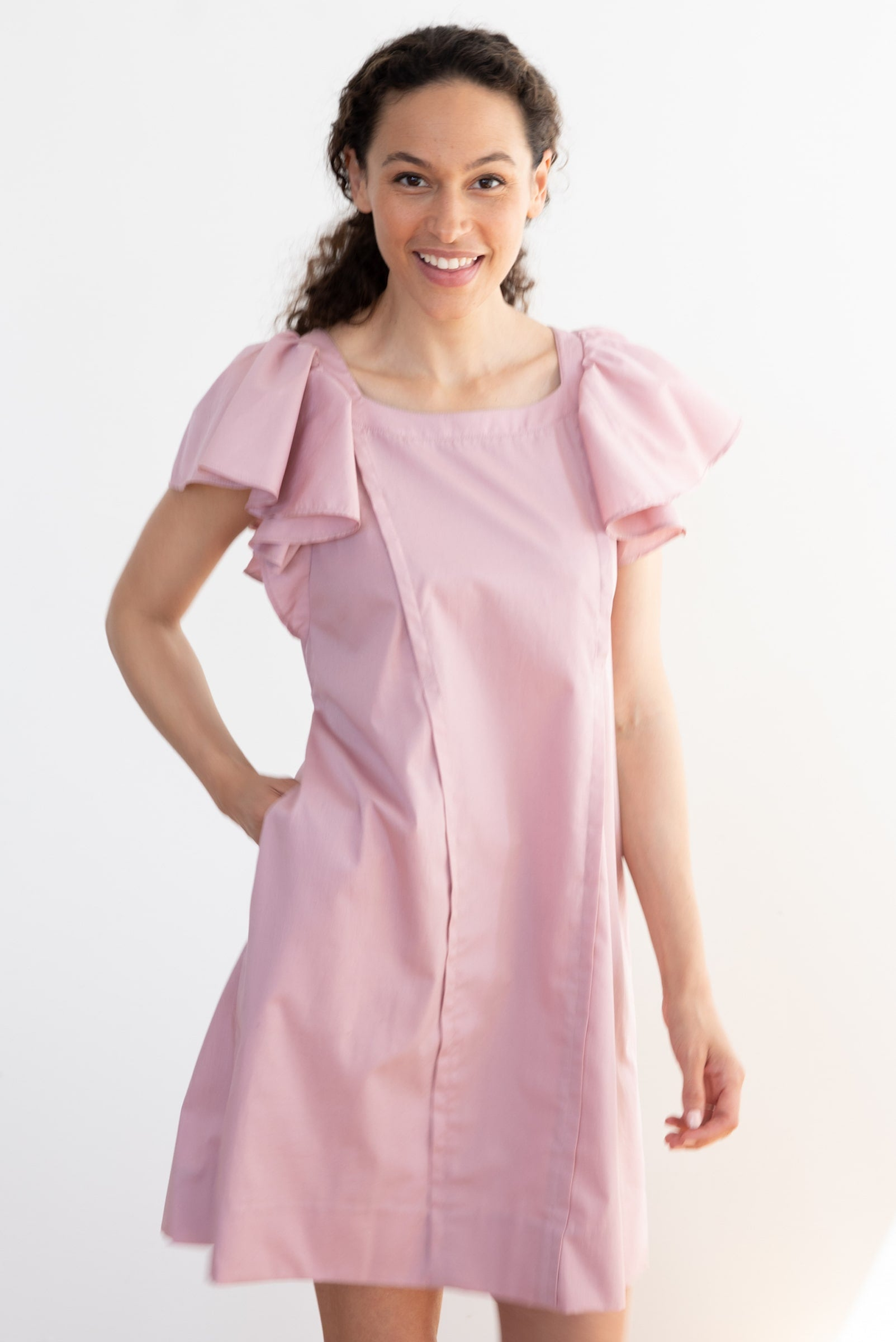 Catalina Maternity Dress - blush