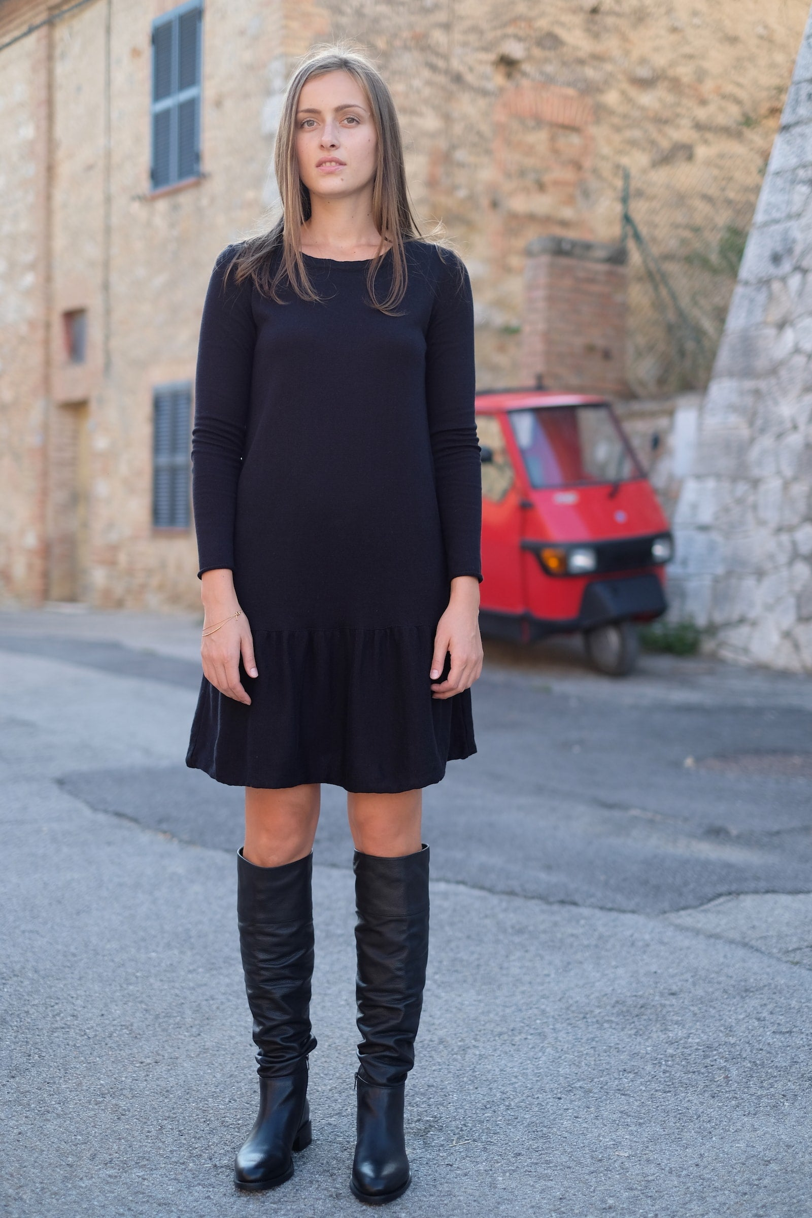 Sofia dress - ambient - black