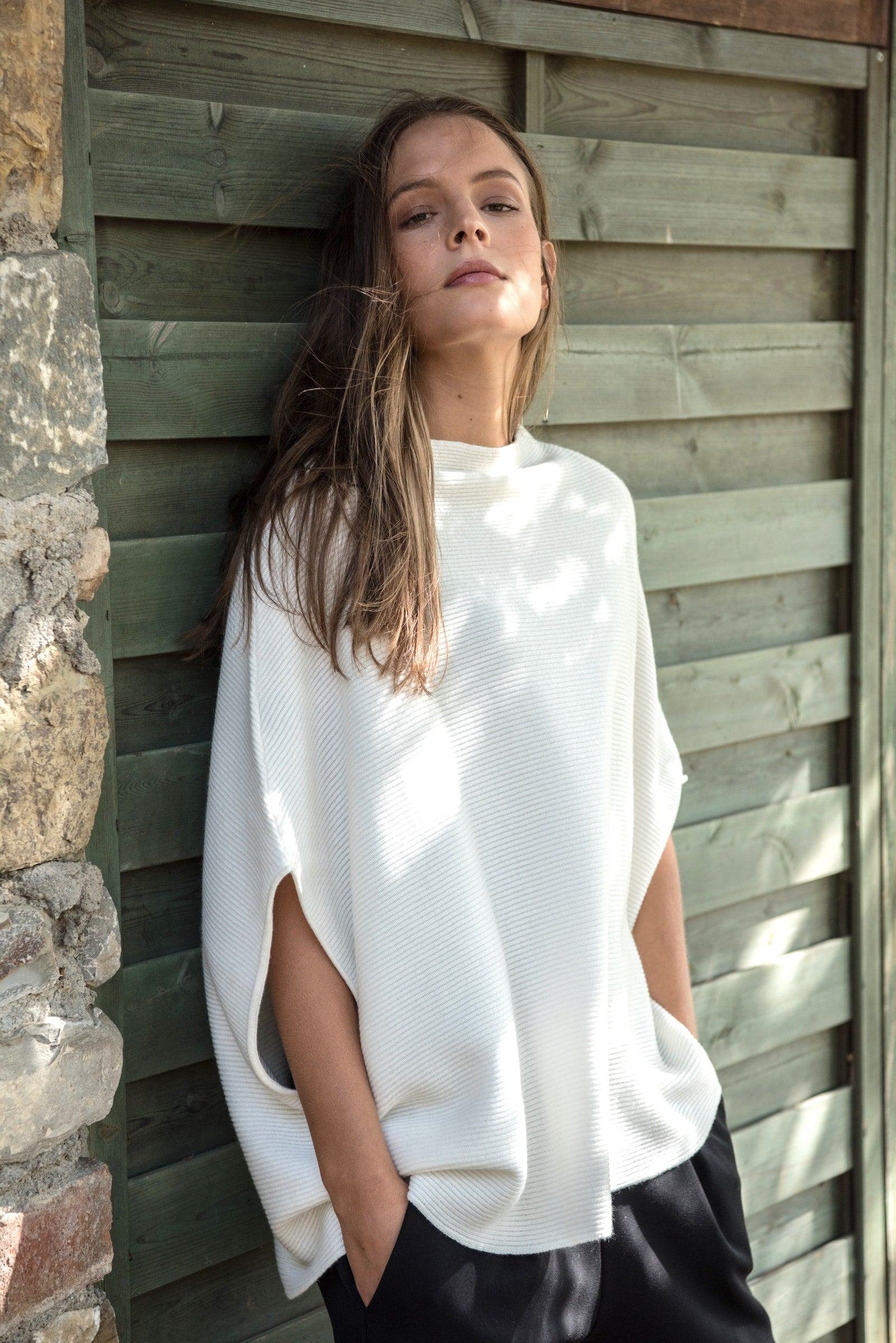 Rachele Poncho - Winter White