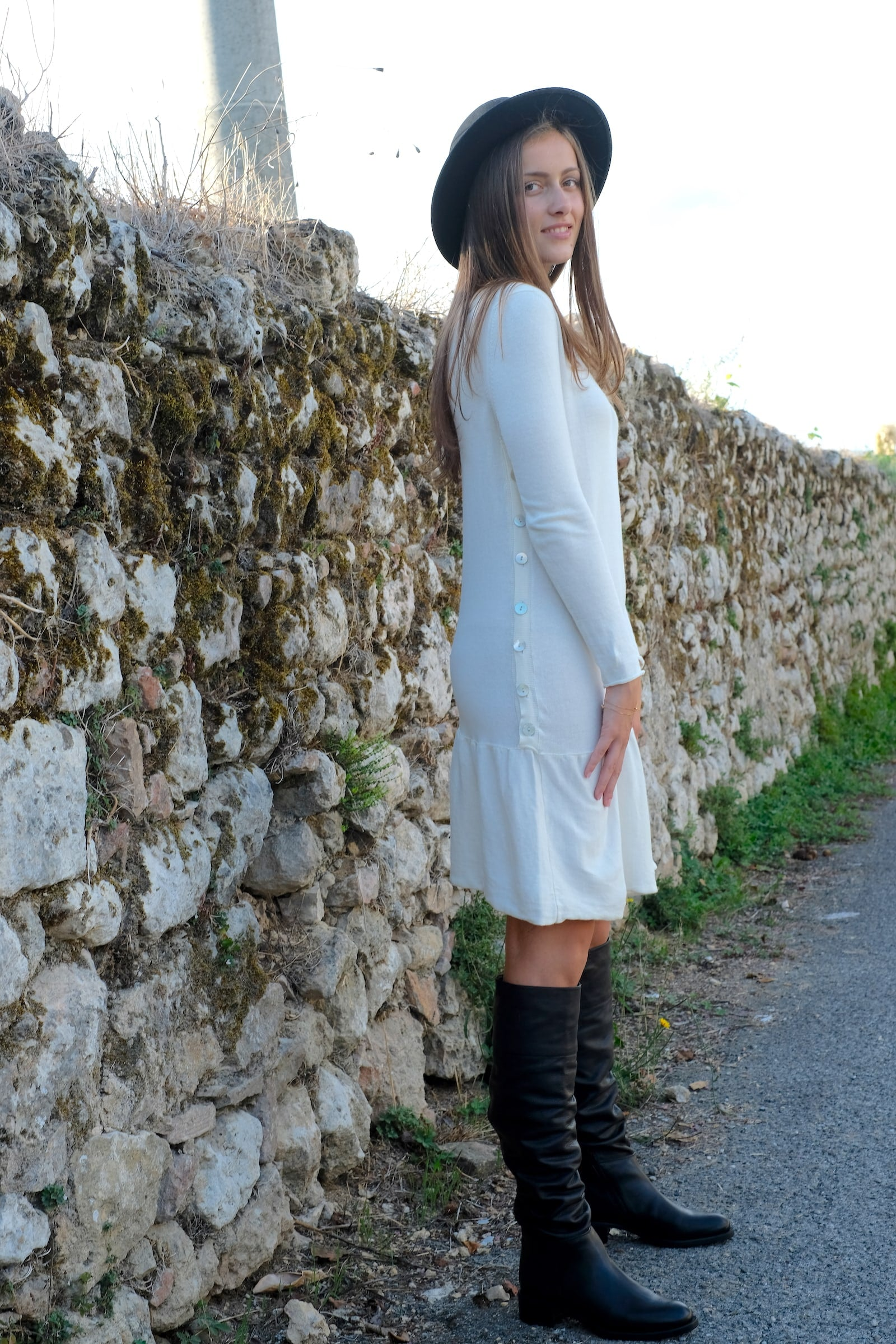 Sofia dress - ambient - winter white