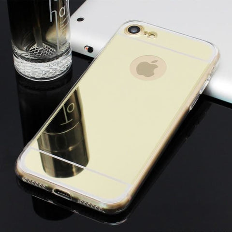 Coque De Protection Iphone Avec Miroir Or / Iphone 5 5S Se