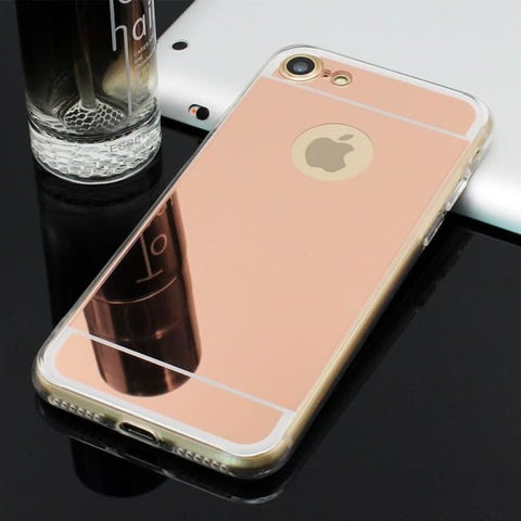 Coque De Protection Iphone Avec Miroir Or Rose / Iphone 5 5S Se
