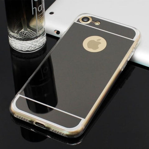 Coque De Protection Iphone Avec Miroir Noir / Iphone 5 5S Se