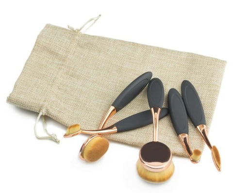 Set De 5 Brosses Ovales Contouring Or