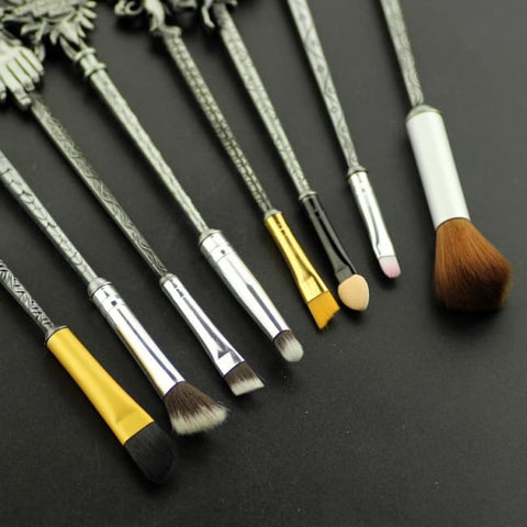 Set De 8 Pinceaux De Maquillage Style Game Of Thrones Argent