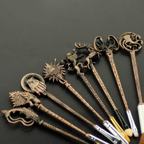 Set De 8 Pinceaux De Maquillage Style Game Of Thrones