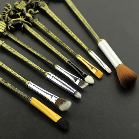Set De 8 Pinceaux De Maquillage Style Game Of Thrones Bronze