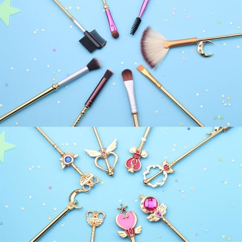 Set De 8 Pinceaux De Maquillage Style Sailor Moon