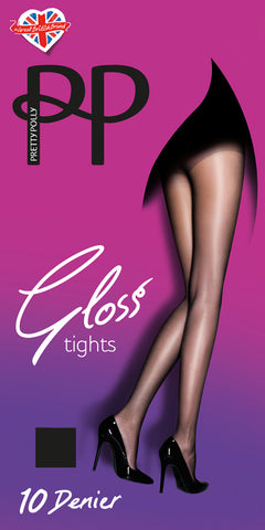 8a2349025eb89 Pretty Polly Everyday Plus 10 Denier Gloss Tights - 2 PACK FREE UK DELIVERY  - Holywood