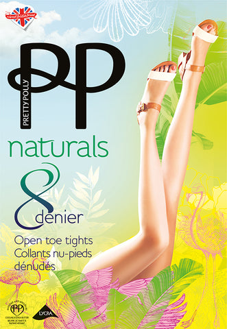 ddf36ce5cba88 Pretty Polly Naturals Open Toe Tights 2 PAIR PACK FREE UK DELIVERY -  Holywood Superstore