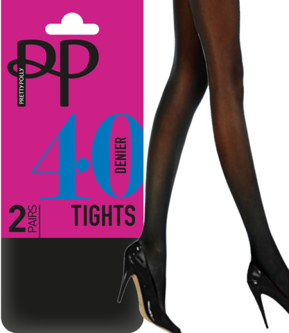 5fab2903c Pretty Polly 40 Denier Opaque Tights- 6 PAIR PACK WITH FREE UK DELIVERY  BLACK FRIDAY