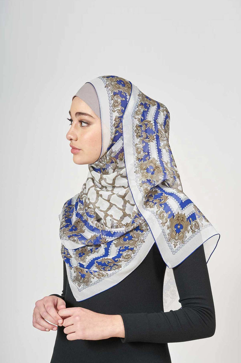 back in baroque scarf CREPE SILK