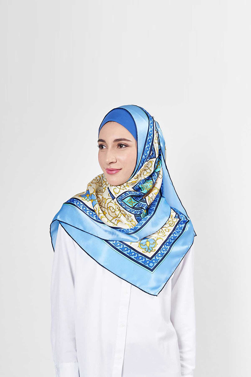 classic arabesque scarf SERIOUSLY SATIN SILK
