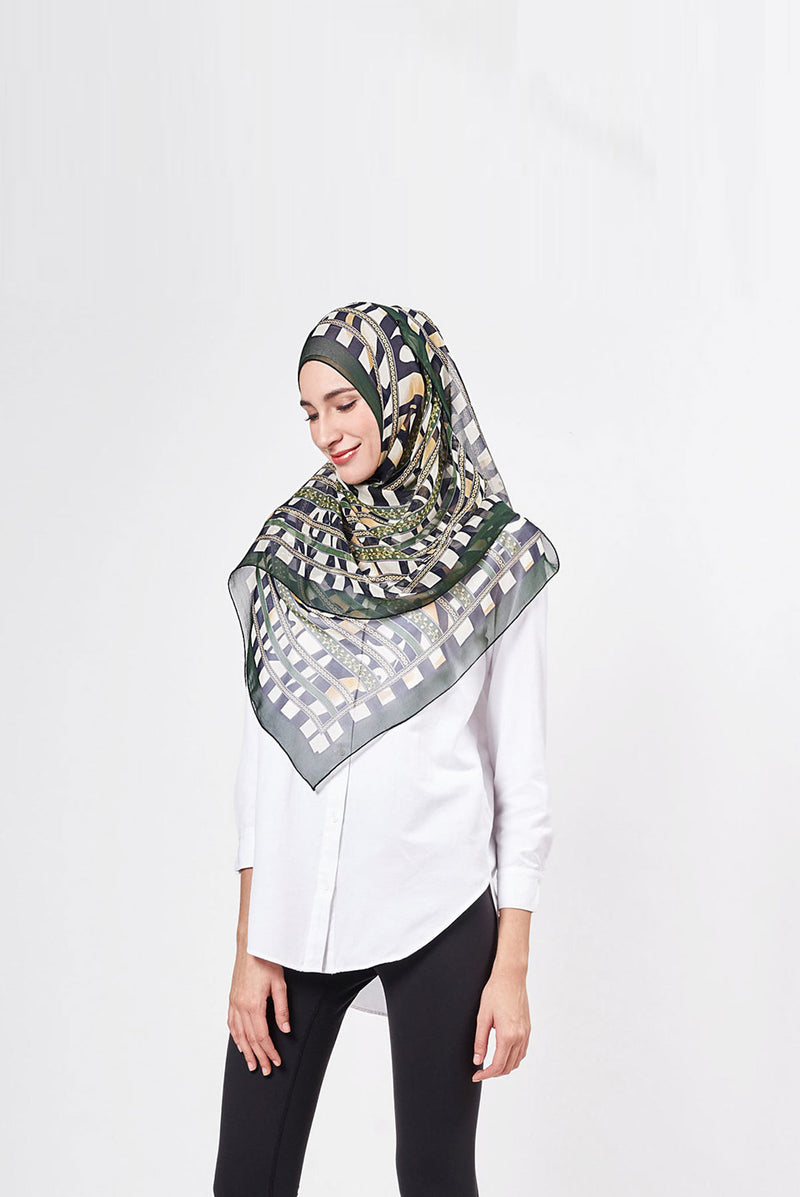 chain reaction scarf CREPE SILK
