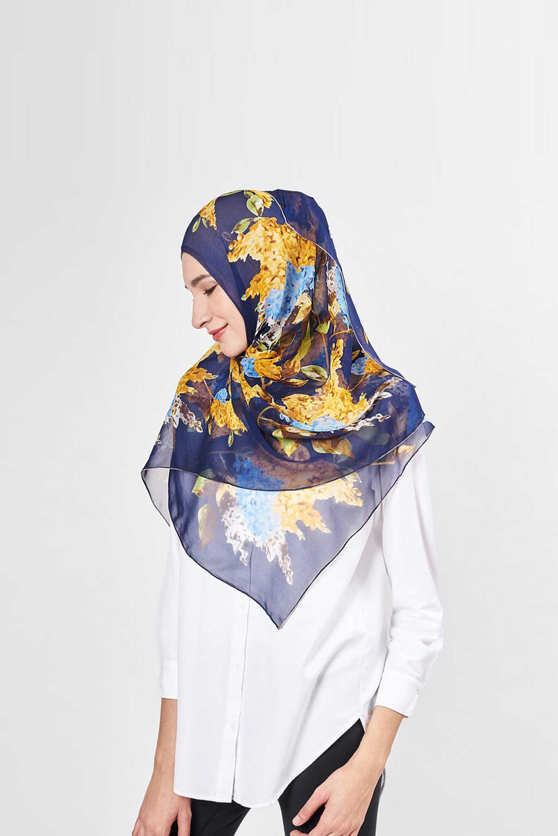 blossom light scarf CREPE SILK