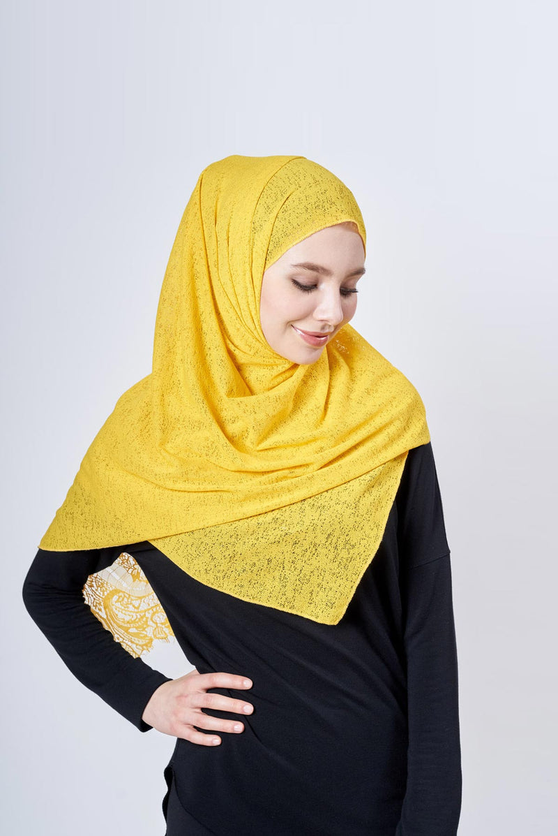 with-lace Ironfree™ scarf in TECHNICAL