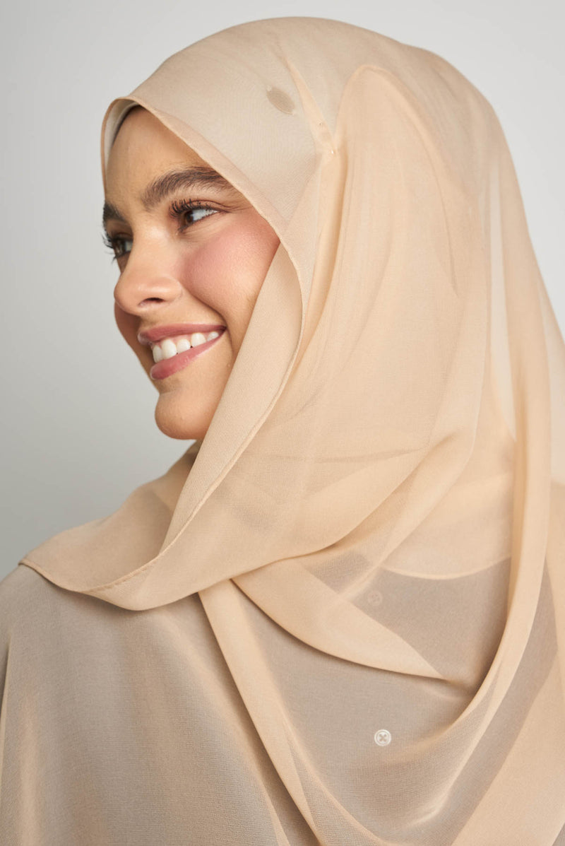 text -- crepe silk charming beige