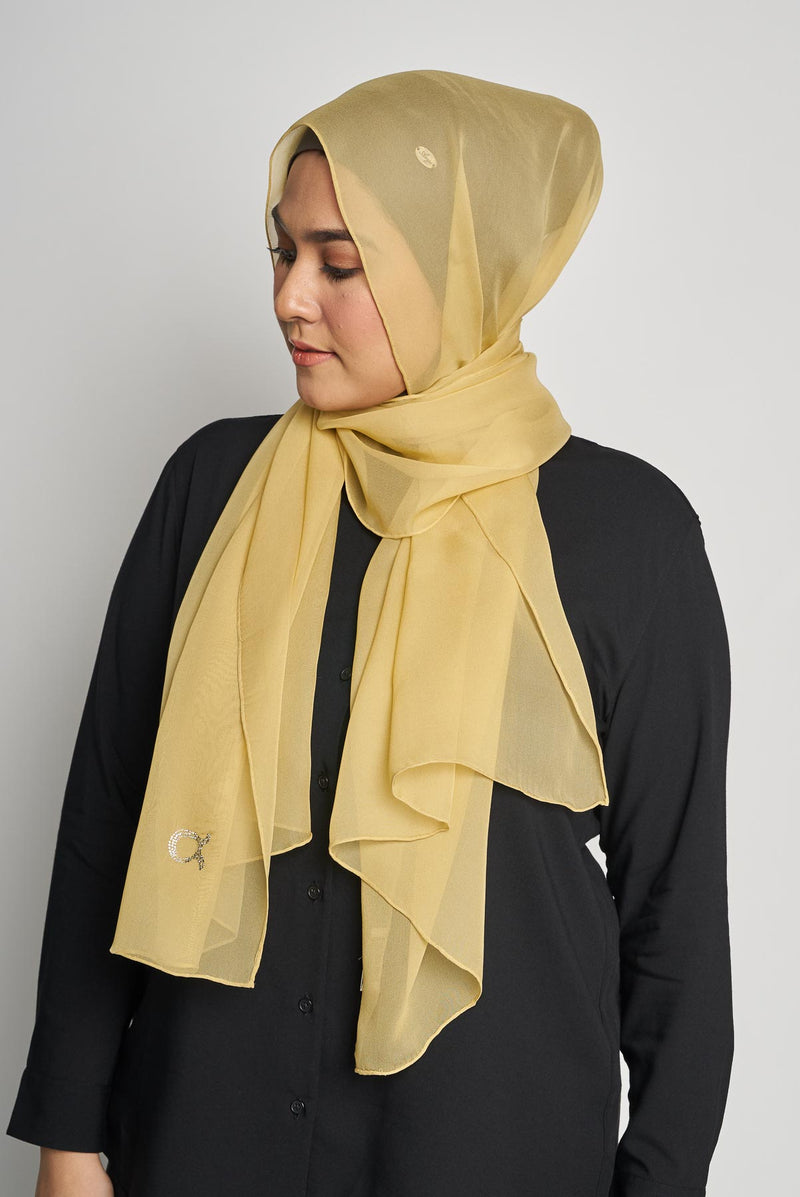 text -- crepe silk fair mustard