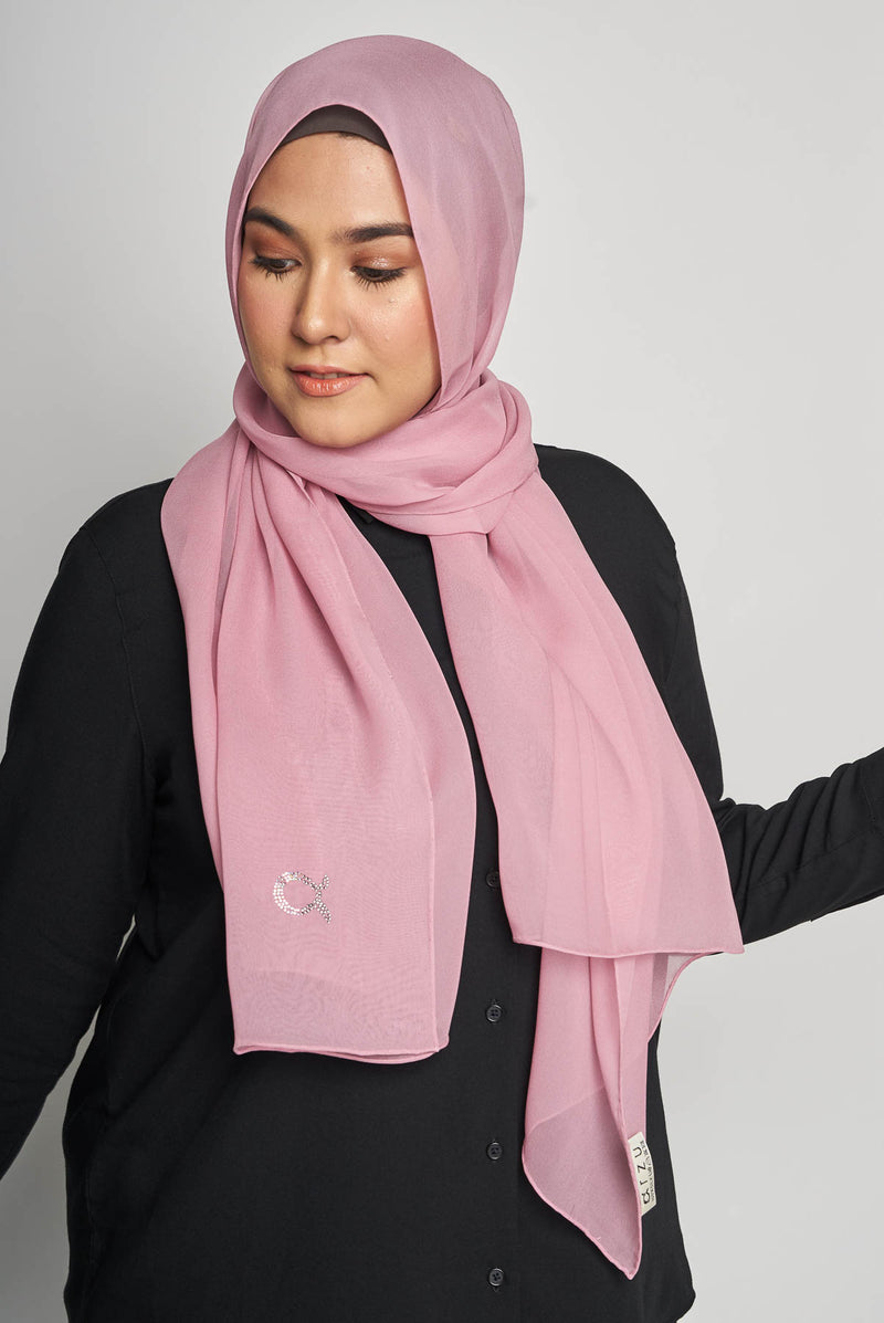 text -- crepe silk delicate pink