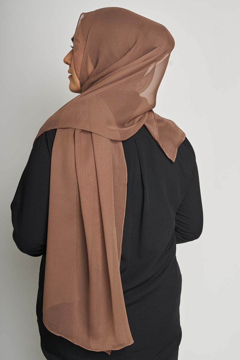 text -- crepe silk sumptuous chocolate