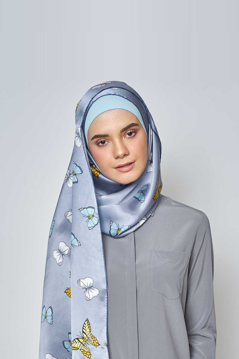 float like a butterfly scarf SERIOUSLY SATIN SILK