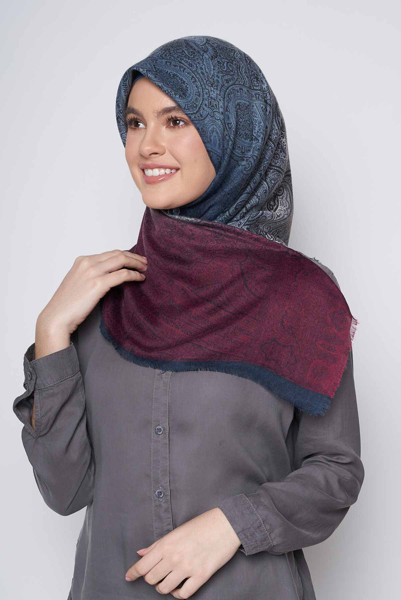 text -- paisley ombre rich maroon
