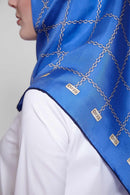 text -- shimmering arzu chain electric blue