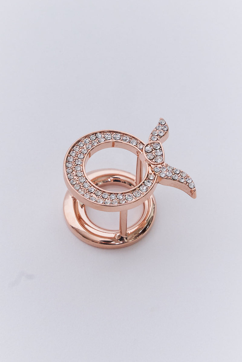 text -- rose gold ring