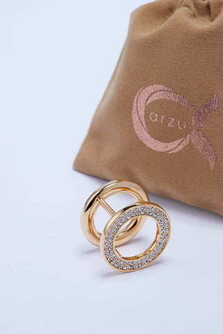 the O scarf ring gold
