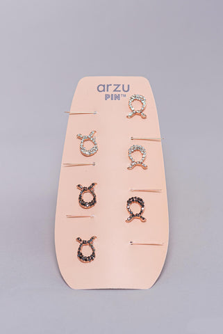 pin one on 'a' for 'arzu' pin set