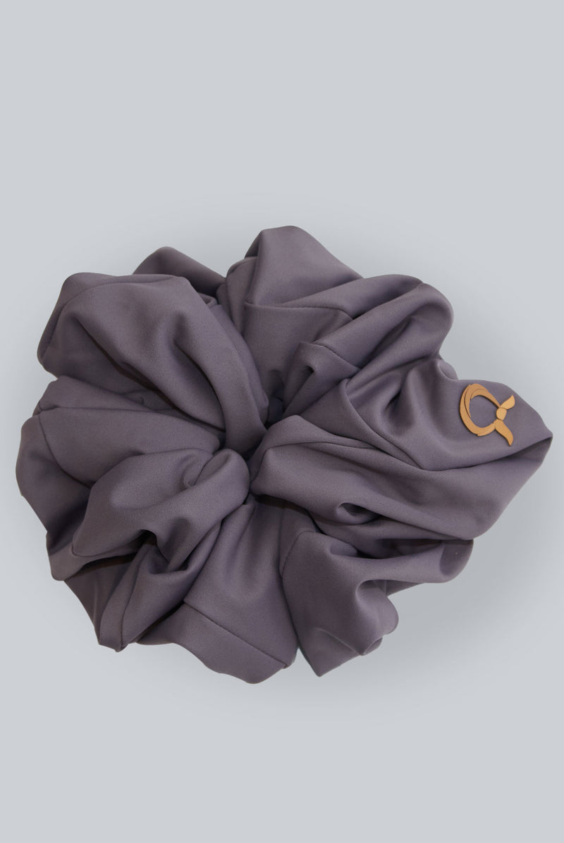 text -- scrunchie subtle purple