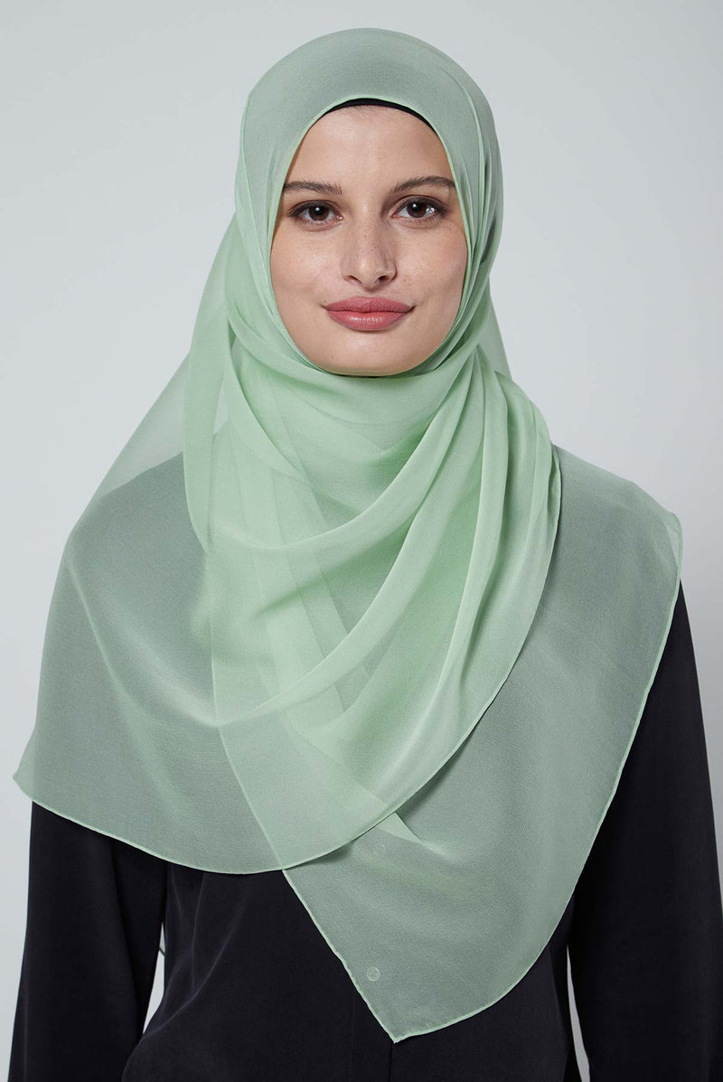 text -- crepe silk pastel green