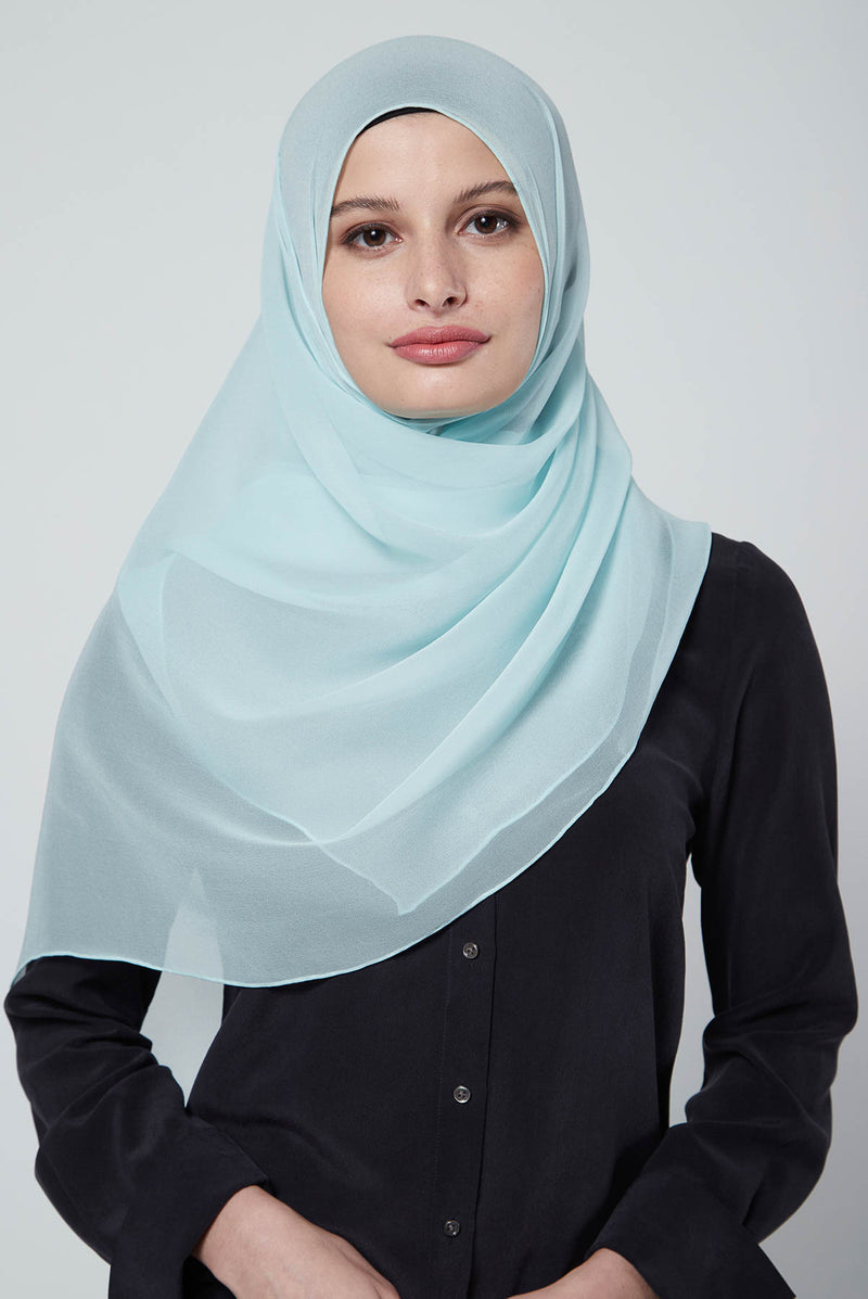 text -- crepe silk teal