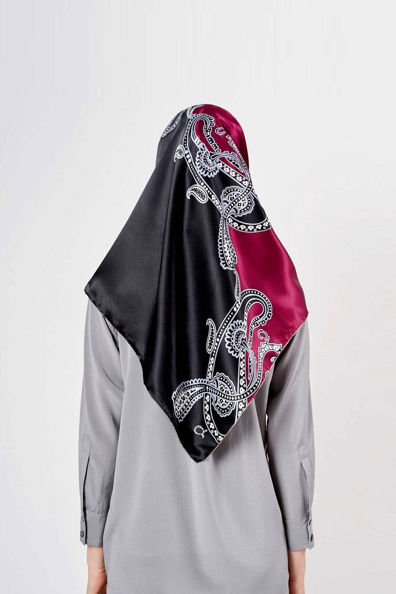 the big paisley scarf in SERIOUSLY SATIN SILK