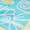 floral caricature baby blue pink lemonade