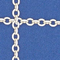 shimmering arzu chain deep blue