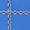shimmering arzu chain electric blue