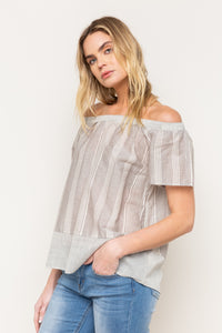 Blusa -17252 -Denim/Grey