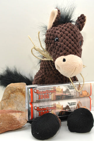 """Boomtown Taxi"" Mule Plush with Chocolates"