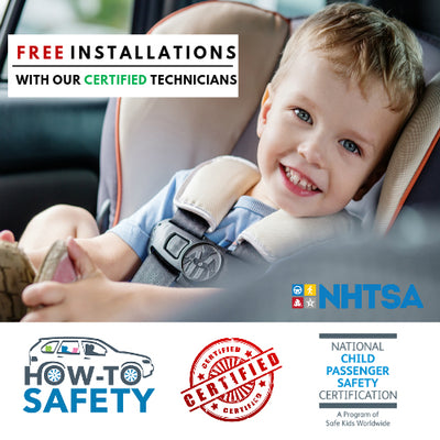 FREE CERTIFIED INSTALLATIONS ON All car seats purchased