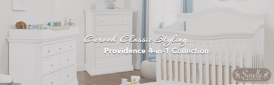 Sorelle Providence - Crib, Double Dresser and Tray