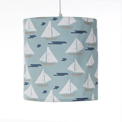 LITTLE SAIL BOAT HANGING DRUM SHADE- SAILBOAT - Posh Baby & Teen