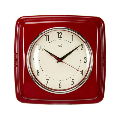 "LITTLE SAIL BOAT RETRO DINER WALL CLOCK-RED (22X2.5X13"") - Posh Baby & Teen"