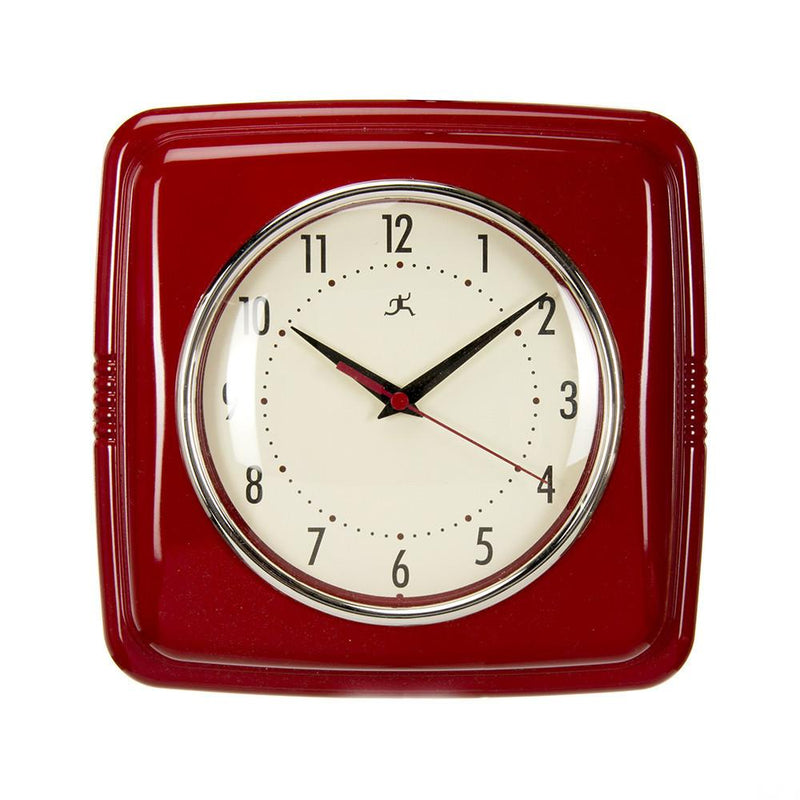 "Glenna Jean Crib Bedding LITTLE SAIL BOAT RETRO DINER WALL CLOCK-RED (22X2.5X13"") New York New Jersey Staten Island"