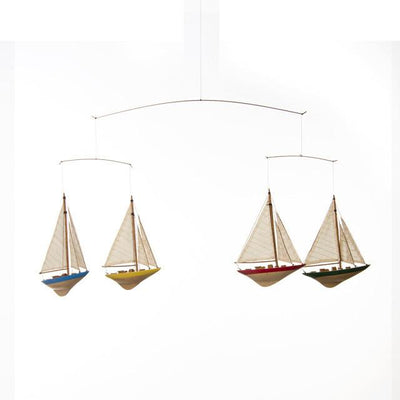 "Glenna Jean Crib Bedding SAILBOAT CEILING MOBILE (36.5X1.5X12.5"") New York New Jersey Staten Island"